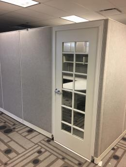 80' Haworth Cubicles With Doors.