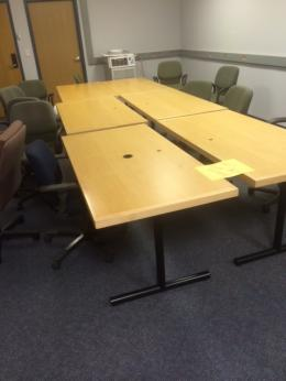 Versteel Maple Veneer Training Tables