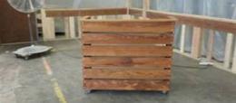 Wood Reception Desk | Hostess Stand