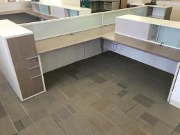 Teknion benching cubicle stations