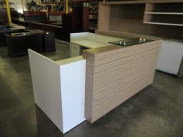 Custom modern reception desk REDUCED TO SELL