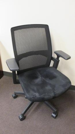 HON Black Suede Mesh Task Chair