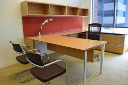 Used Knoll Autostrada Veneer U Shaped Desk
