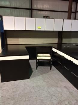 Executive U-Shape Desk with Hutch