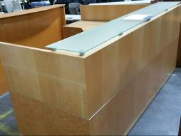 Custom Maple L Shaped Reception Desk