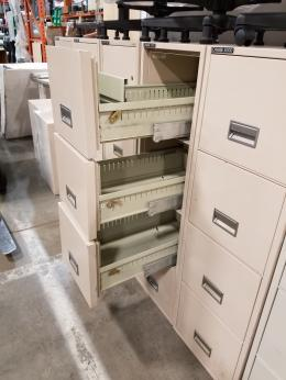 Used Office File Cabinets Schwab 5000 4 Drawer Fire Proof File At Furniture Finders