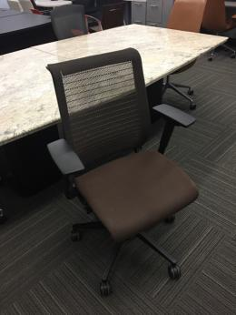 Steelcase Think Chairs Brown Mesh