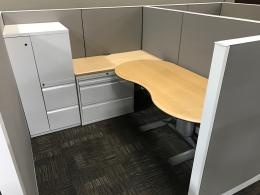 Blended Workstation with Sit to Stand