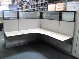 Knoll Dividends 6x6 Workstations With Glass.