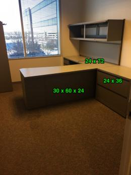 Used Office Desks Used Steelcase Quot L Quot Shape Desk With