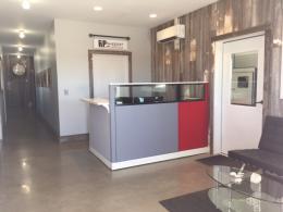 Modern Reception Desk with Glass