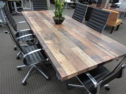 Custom reclaim look laminate conference table