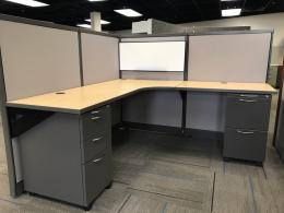 Used cubicles with low panels