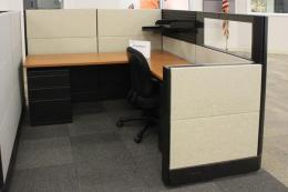 Midheight Herman Miller Used Cubes + Glass