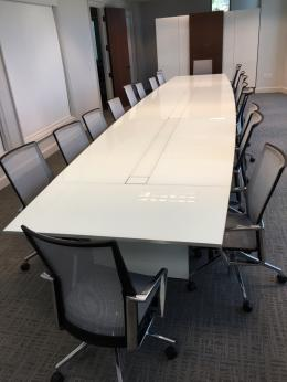 New Nucraft Office Furniture FurnitureFinders - Custom glass conference table