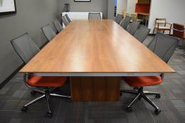 OFS Oak Laminate Conference Table 14x5