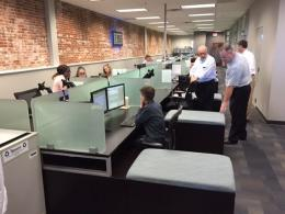 Modern Call Center Cubicles Glass Dividers