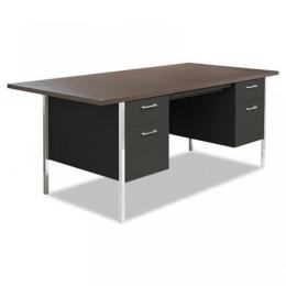 Alera New Oversized Top Desk, Black
