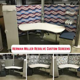 Herman Miller Resolve Custom Screens