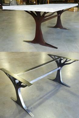 Cool Steel Metal Table Bases 4 Desks & Tables