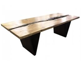 8' Ash Hardwood Rectangular Conference Table