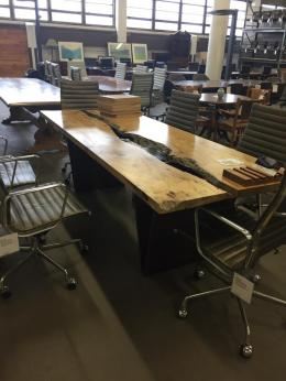 Live Edge Modern Industrial Conference Table