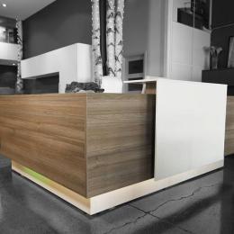 Modern L Shaped Reception Desk