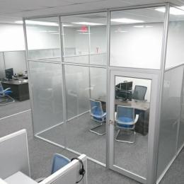Floor To Ceiling Glass Offices With Door