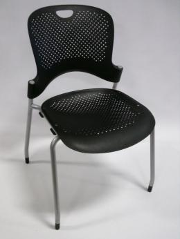 Herman Miller Black Caper Stacking Chairs