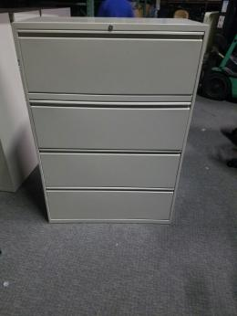 4-Drawer lateral file cabinets 36