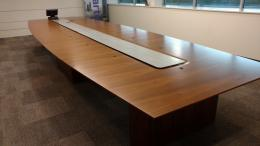 Nucraft 20' conference table and credenza set