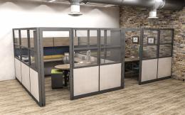 Tall Cubicles with Doors