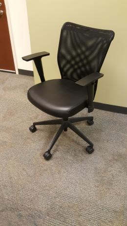 Allseating inertia black leather task chair