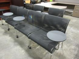Modern Mesh Lounge Chair with Tablet Table