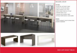 Lacasse Nex Series Cafe Height Tables