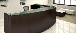 New Willow Reception desk by Friant