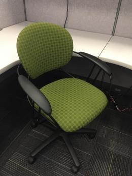 Steelcase Uno Green Task Chairs