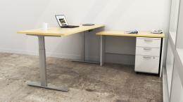 IOF Double Motor Height Adj. L-Shape Desk