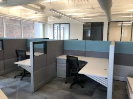 Modern Herman Miller Cubicles with Glass