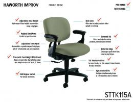 Haworth Improv Task Chair (Beige)