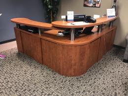 Cherry Laminate 7x7' Reception Desk