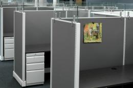 AO2 tall modern office cubicles 6x6