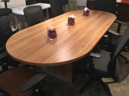 8 foot conference room table & chairs