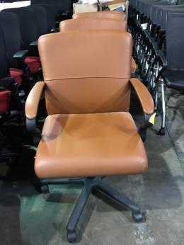 Brayton Saddle Leather Conference Chair