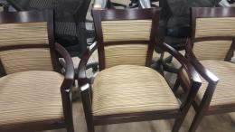 OFS espresso frame chairs