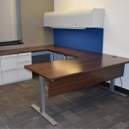 Custom Desks from Cubicle Parts
