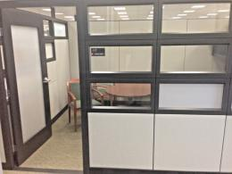 Tall Haworth Private Office Cubicle w. Glass