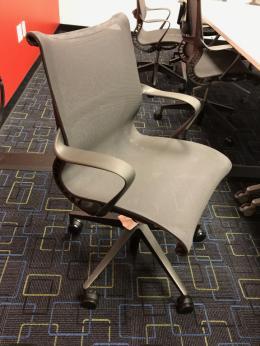 Dark Grey Herman Miller Setu Chairs