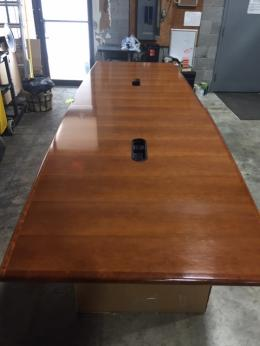 12' Cherry Veneer Conference table