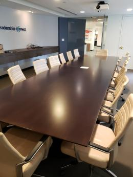 16 foot Board Table and Global Accord Chairs